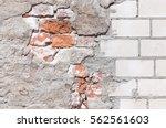 Damaged Grey Plastered Wall...