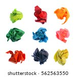 Set Of Colorful Crumpled Papers ...
