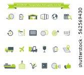 transportation  logistics and... | Shutterstock .eps vector #562569430
