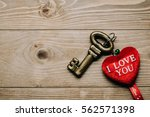 Key With Heart With I Love You...