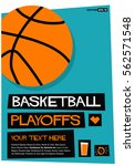 basketball playoffs  flat style ... | Shutterstock .eps vector #562571548