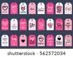 vector valentine's day cards... | Shutterstock .eps vector #562572034
