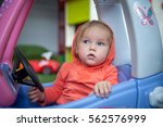 baby kid toddler playing ... | Shutterstock . vector #562576999
