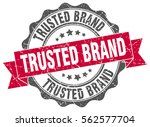 trusted brand. stamp. sticker....   Shutterstock .eps vector #562577704