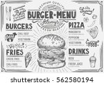 food menu for restaurant and... | Shutterstock .eps vector #562580194