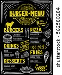 food menu for restaurant and... | Shutterstock .eps vector #562580284