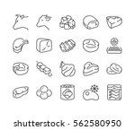different types of beef and... | Shutterstock .eps vector #562580950