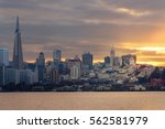 skyline of bay area in san... | Shutterstock . vector #562581979