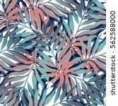 summer exotic floral tropical... | Shutterstock .eps vector #562588000