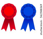 Red And Blue Award Ribbons...