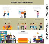 business success flat... | Shutterstock .eps vector #562590850