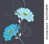 seamless floral pattern with... | Shutterstock .eps vector #562593898