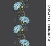 seamless floral pattern with... | Shutterstock .eps vector #562593904