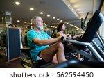 beautiful fit senior couple in... | Shutterstock . vector #562594450