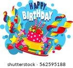 vector illustration of birthday ...   Shutterstock .eps vector #562595188