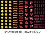 red ribbon banner label vector... | Shutterstock .eps vector #562595710