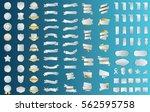 silver ribbon banner label... | Shutterstock .eps vector #562595758