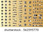 silver ribbon banner label... | Shutterstock .eps vector #562595770