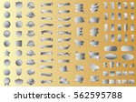 silver ribbon banner label... | Shutterstock .eps vector #562595788