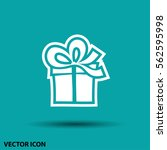 pictograph of gift | Shutterstock .eps vector #562595998