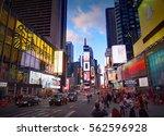 new york city  manhattan  apr... | Shutterstock . vector #562596928