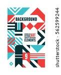 abstract minimal design... | Shutterstock .eps vector #562599244
