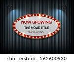 theater sign ellipse red border ... | Shutterstock .eps vector #562600930