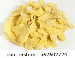 dehydrated ginger slice on... | Shutterstock . vector #562602724