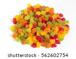 dehydrated pineapple core dice... | Shutterstock . vector #562602754