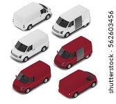 isometric delivery van  car... | Shutterstock .eps vector #562603456