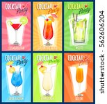 set of vector cocktails | Shutterstock .eps vector #562606204