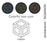 3d contour cube isometric... | Shutterstock .eps vector #562606450