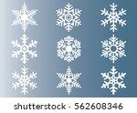 snowflake vector icon...   Shutterstock .eps vector #562608346