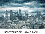 the skyline of the city of... | Shutterstock . vector #562616410