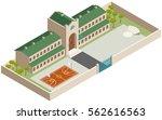 isometric school and school... | Shutterstock .eps vector #562616563