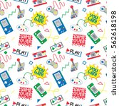 seamless pattern with colorful... | Shutterstock .eps vector #562618198