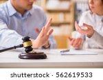 judge gavel deciding on...   Shutterstock . vector #562619533