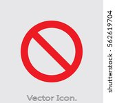 prohibition icon isolated sign... | Shutterstock .eps vector #562619704