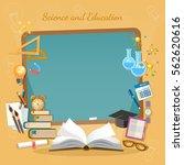 education background  school... | Shutterstock .eps vector #562620616