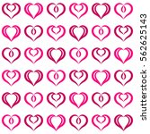 pink hearts seamless pattern....   Shutterstock .eps vector #562625143