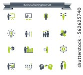 business training icon set | Shutterstock .eps vector #562625740