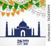 india republic day celebration. ...   Shutterstock .eps vector #562630444