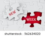 white puzzle with void in the...   Shutterstock . vector #562634020