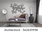 interior with sofa. 3d... | Shutterstock . vector #562635958