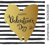 hand drawn heart on striped...   Shutterstock .eps vector #562636108