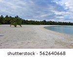 beautiful and desert beach of a ... | Shutterstock . vector #562640668
