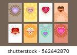 wedding invitation card or... | Shutterstock .eps vector #562642870