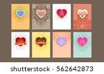 wedding invitation card or... | Shutterstock .eps vector #562642873