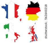 a detailed map of the top four... | Shutterstock .eps vector #562643218