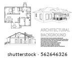 perspective 3d  floor plan and... | Shutterstock .eps vector #562646326
